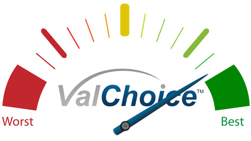 gauge for a high scoring, high value, provider
